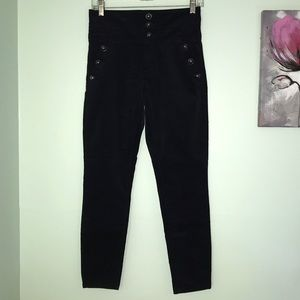 Navy high waisted pants